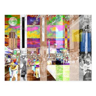 Art Show Montage Postcard