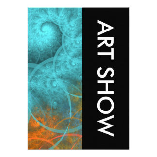 Art Show Spiral Design Custom Invitation