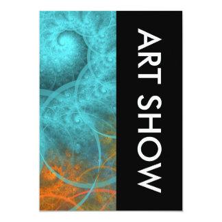 Art Show Spiral Design 5x7 Paper Invitation Card