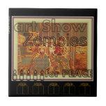 """Art Show Zombies for Peace"" Ceramic Tile"