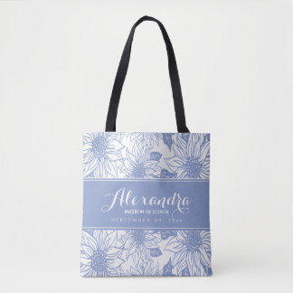 Art Sketch Sunflowers Wedding Party Tote (lilac)