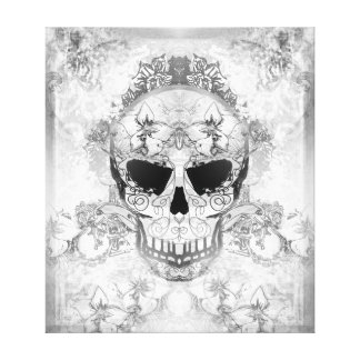 Art skull Stretched Canvas Print