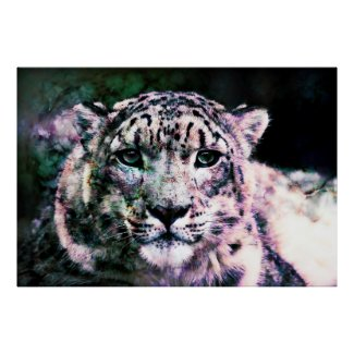 Art - Snow Leopard Mixed Media Posters