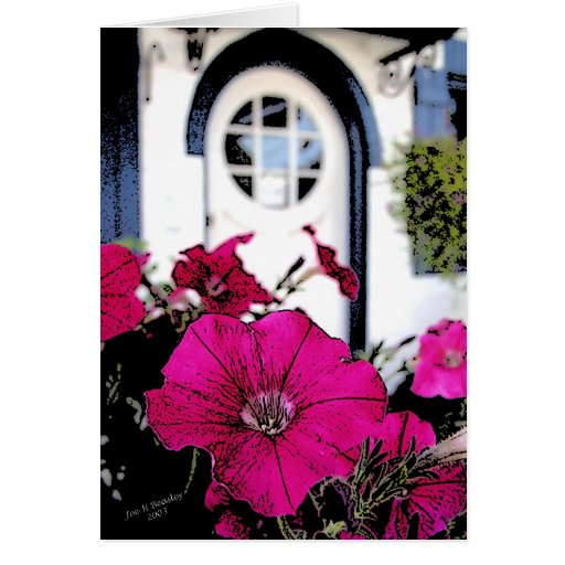 Art Station Flowers Greeting Cards