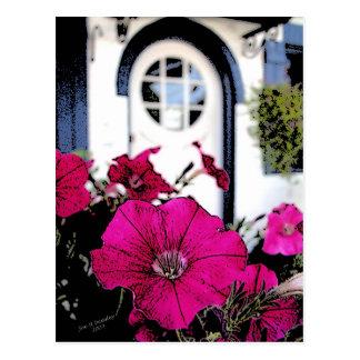 Art Station Flowers Postcard