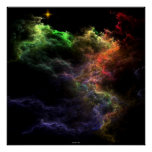 Art Stucco Nebula Cluster Poster
