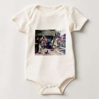 Art Student Holiday Painting Baby Bodysuit