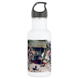 Art Student Holiday Painting Stainless Steel Water Bottle