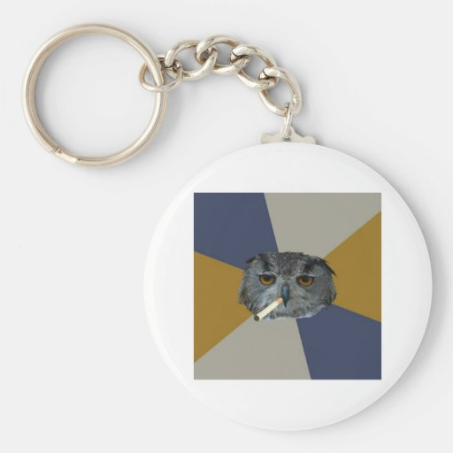 Art Student Owl Advice Animal Meme Keychain