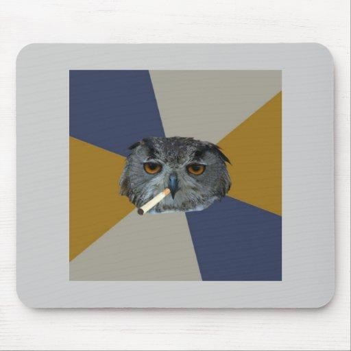 Art Student Owl Advice Animal Meme Mouse Pads