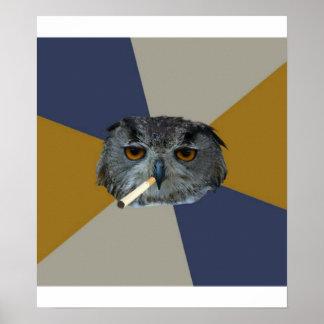 Art Student Owl Advice Animal Meme Poster