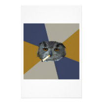 Art Student Owl Advice Animal Meme Stationery