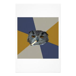 Art Student Owl Advice Animal Meme Personalized Stationery