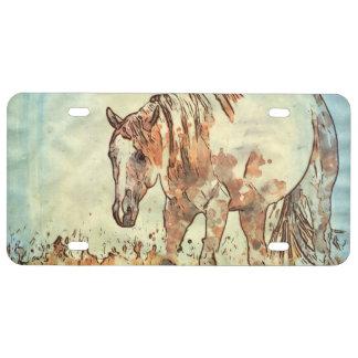 Art Studio 12216 Horse License Plate