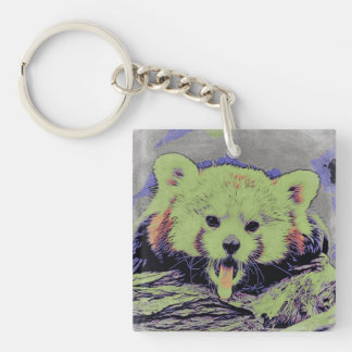 Art Studio 12216 yawning red panda Keychain