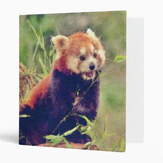 Art Studio 15216 red Panda 3 Ring Binder