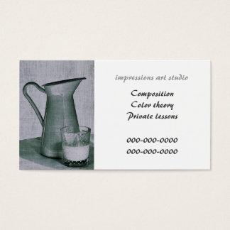art studio/ art tutor business card template