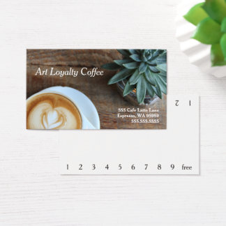 Art & Succulent Loyalty Coffee Punch-Card Business Card