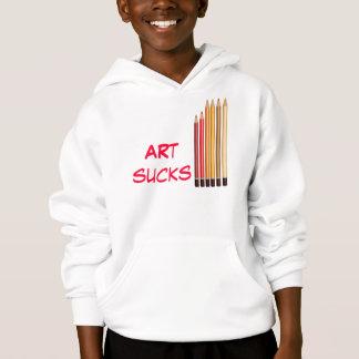 Art sucks hoodie