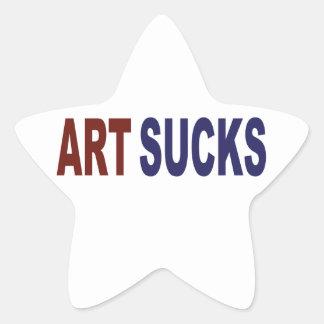 Art Sucks Star Sticker