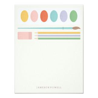 Art Supplies Children's Stationery Card