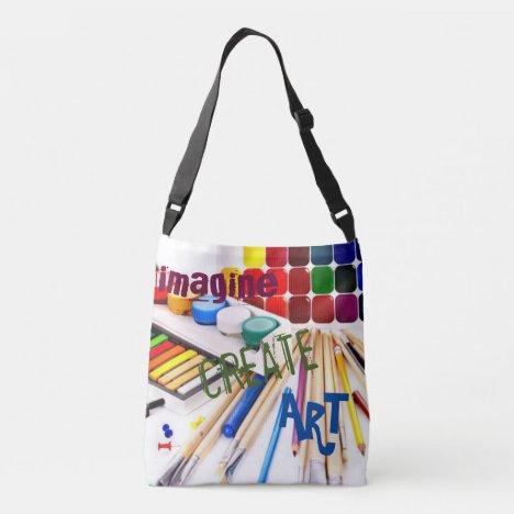 Art Supplies Crossbody Bag