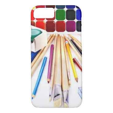 Beach Themed Art Supplies iPhone 7 Case