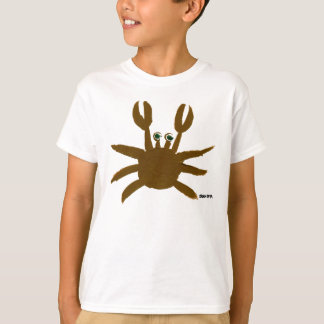Art T-Shirt: Crazy Crab Seaside Holiday Top