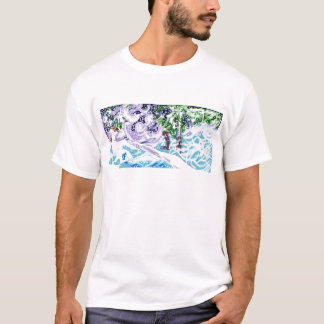 """Art t-shirt """"In a Michigan's forest"""""""