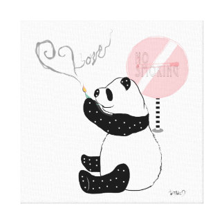 Art/Tabaco Panda Canvas Print