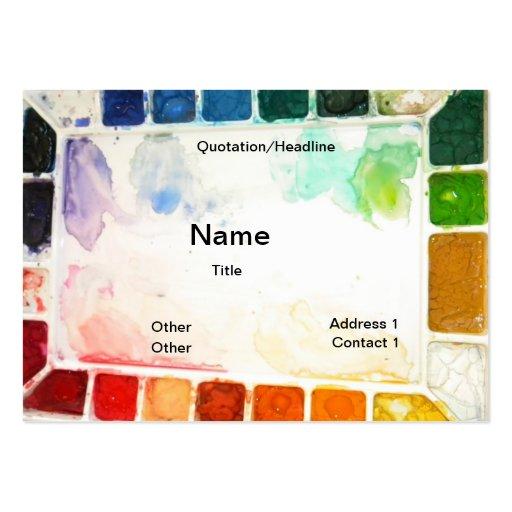 Art Teacher and Painter cards Business Card Templates