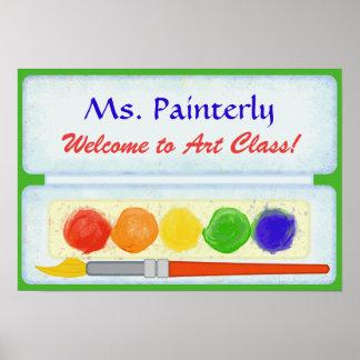 Art Teacher Classroom Welcome Sign   Paint Palette