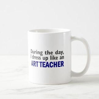 ART TEACHER During The Day Classic White Coffee Mug