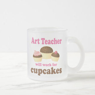 Art Teacher (Funny) Gift Frosted Glass Coffee Mug