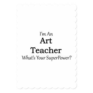 Art Teacher 5x7 Paper Invitation Card