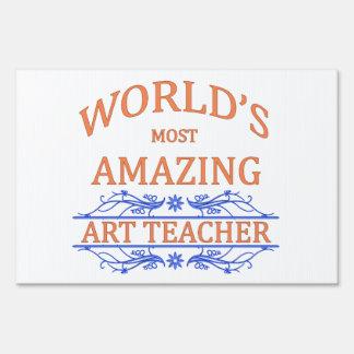 Art Teacher Lawn Sign