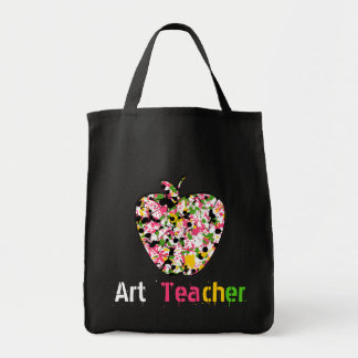 Art Teacher Painted Apple Bag