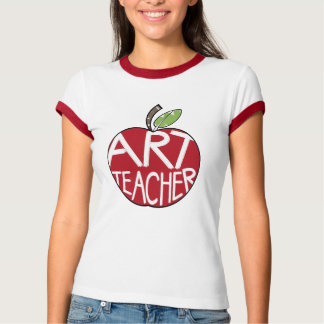 Art Teacher Painted Apple & Paint Brushes Shirts