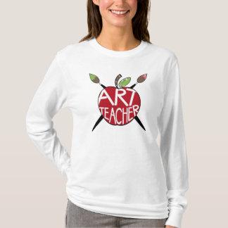 Art Teacher Painted Apple & Paint Brushes T-Shirt
