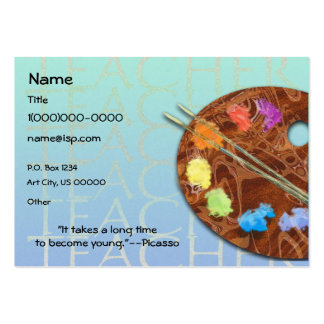 Art Teacher Palette Business Card