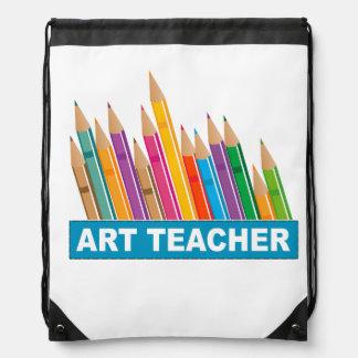 Art Teacher Drawstring Backpack