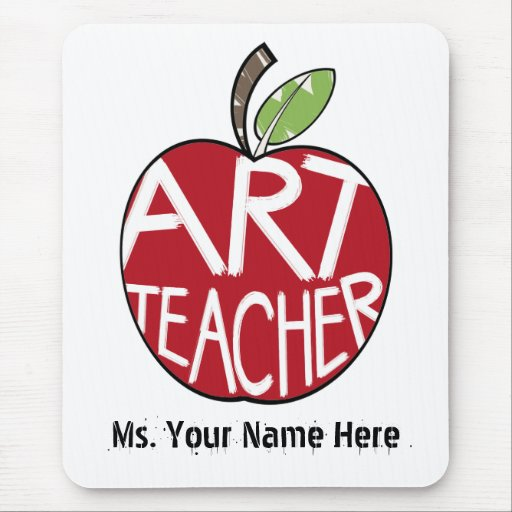 Art Teacher Red Painted Apple Mousepad