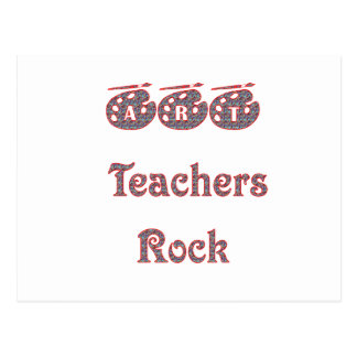 Art teacher rock 2 copy postcard
