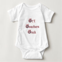 Art teacher rock 3 baby bodysuit