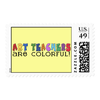 Art Teachers Are Colorful Postage Stamp