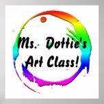 Art Teacher's Poster: Rainbow Brush Stroke Poster