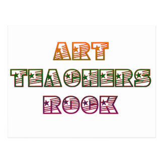 ART TEACHERS ROCK POSTCARD