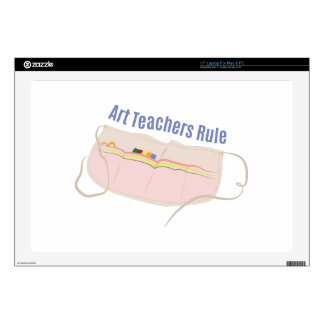 "Art Teachers Rule Decals For 17"" Laptops"