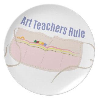 Art Teachers Rule Melamine Plate