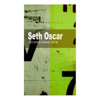 """Art Tech Business Card """"Screenwriter Author"""""""